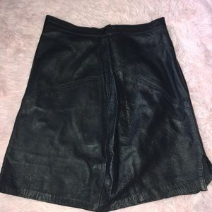Dresses & Skirts - High waisted leather skirt